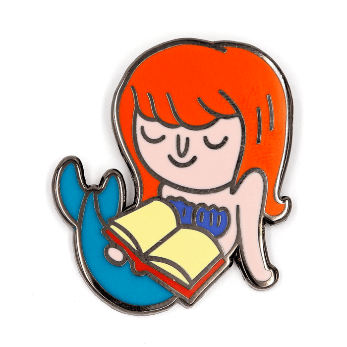 Reading Mermaid Pin