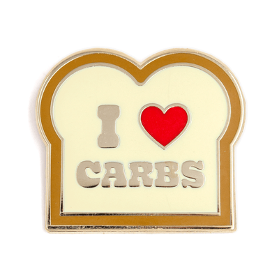 I Heart Carbs Pin