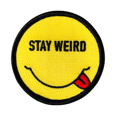 Smiley Stay Weird Patch