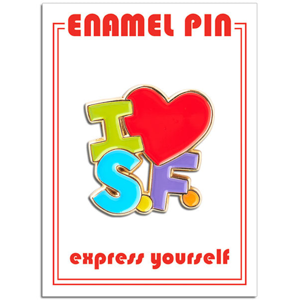I Heart SF Colorful Pin