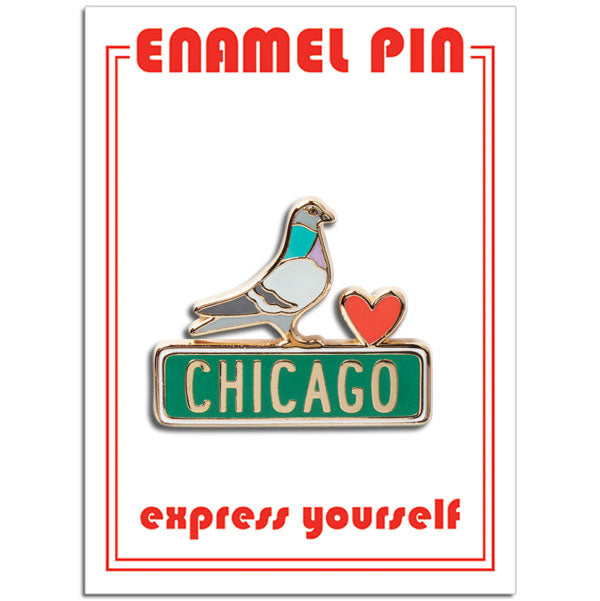 Chicago Pigeon Pin