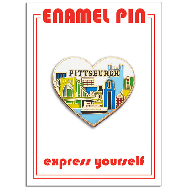 Pittsburgh Skyline Heart Pin