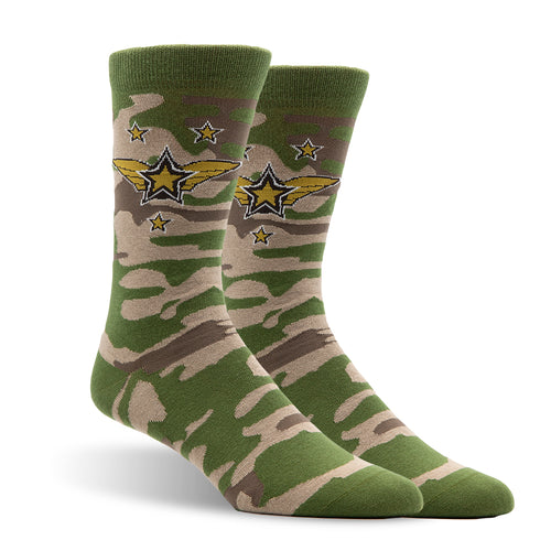Army Socks by Patches and Pins Men's Crew