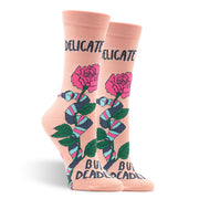 Delicate But Deadly Women's Socks