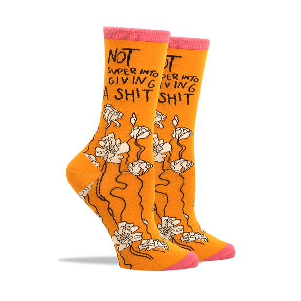 Not Super Into Giving A Shit Women's Socks