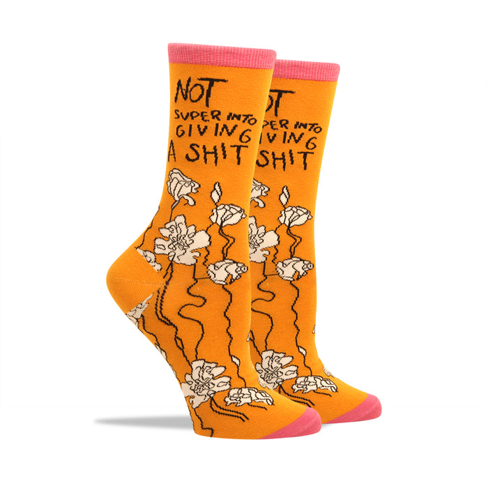 Not Super Into Giving A S--t Women's Socks
