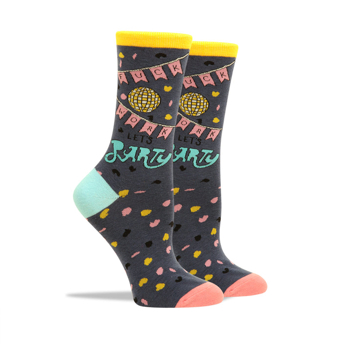 F--k Work Let's Party Women's Socks