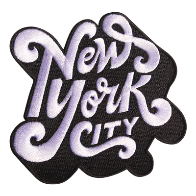 New York City typography Patch