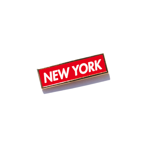 New York Bold Enamel Pin