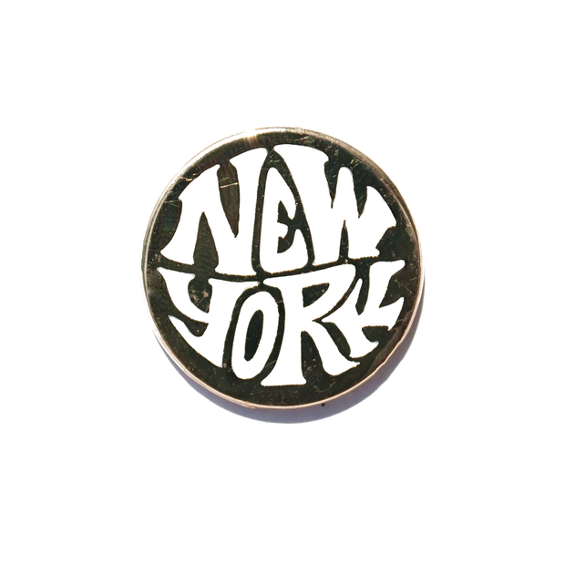 New York Retro Enamel Pin