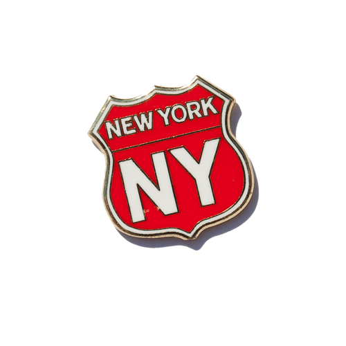 New York Signs Enamel Pin