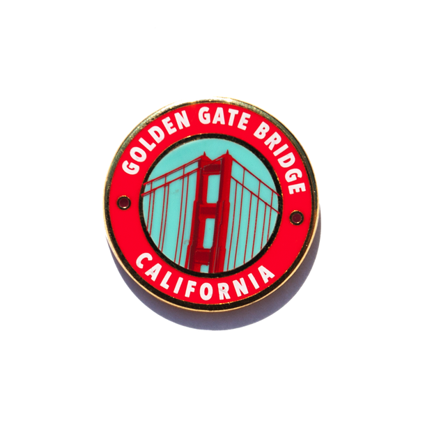 San Francisco Golden Gate Enamel Pin