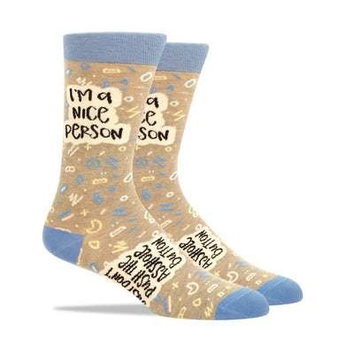 Nice Person Men's Socks