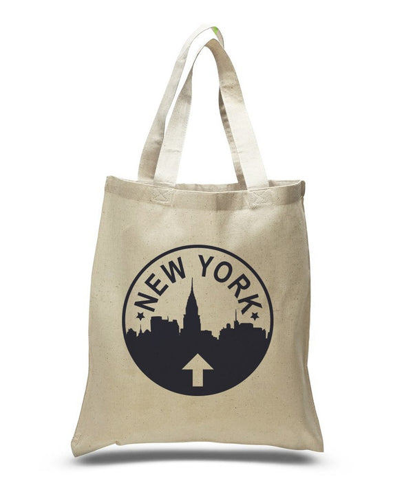 New York Sign Tote Bags