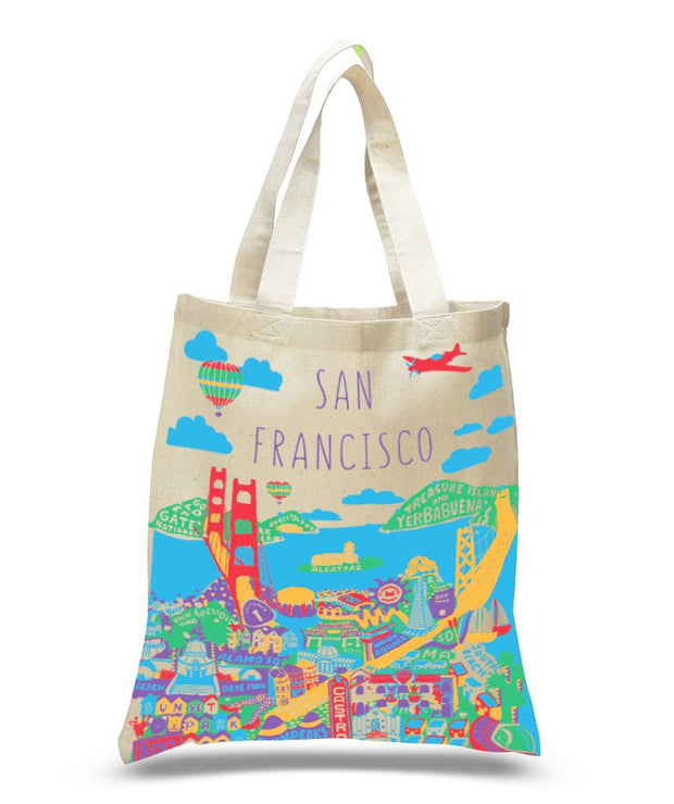 San Francisco Collage Tote Bags