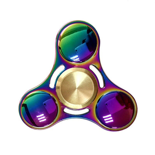 High-End Rainbow Fidget Tri-Spinner