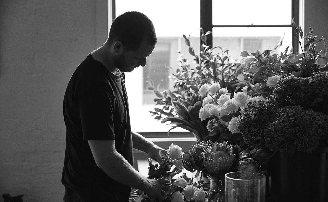Kieran Birchall of MyFlowerMan featured on Oliver Grand Shot by Trevor King