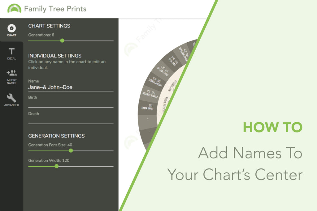 Family Tree Maker: How To Add Names To The Center of Your Chart