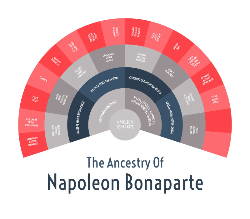 Example of Family Tree: 5 Generation Family Tree Chart for Napoleon Bonaparte