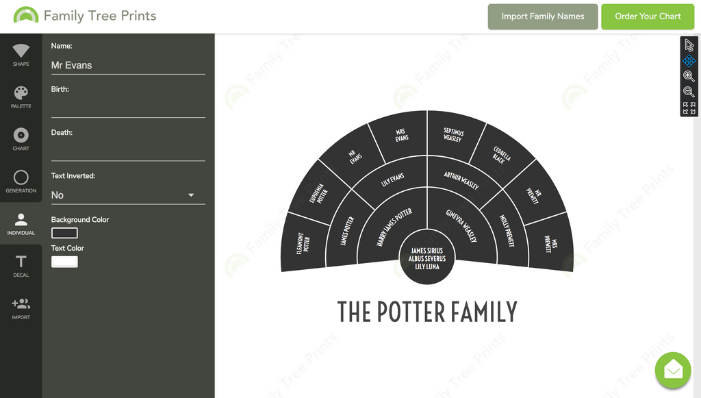 Make a Family Tree Using Manual Entry