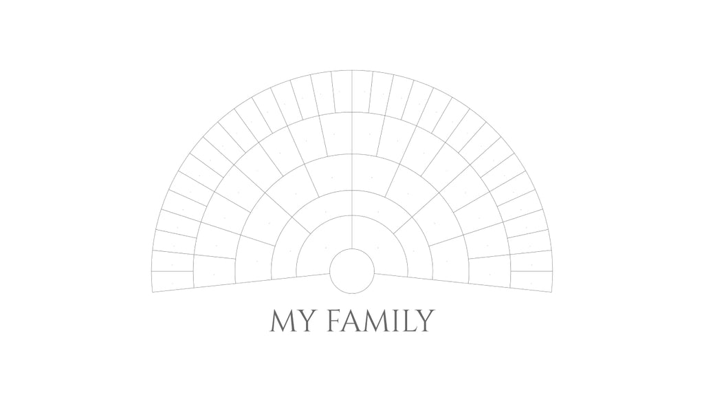 Blank Pedigree Chart: My Family