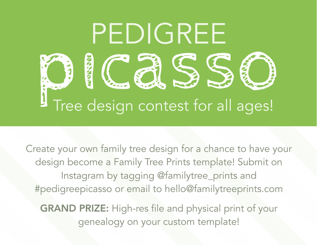 Pedigree Picasso Art Of The Chart Competition Family Tree Prints