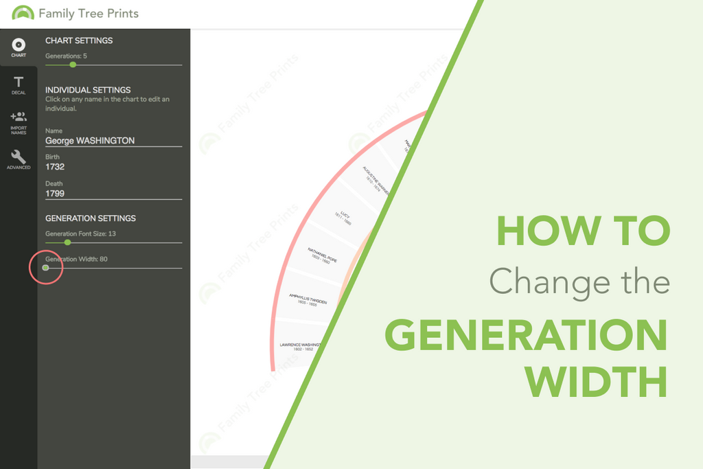 Family Tree Maker: How To Change Generation Width On Pedigree Chart