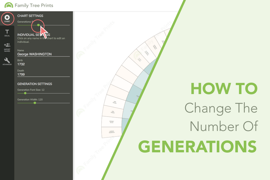 Family Tree Maker: How to Change Number of Generations