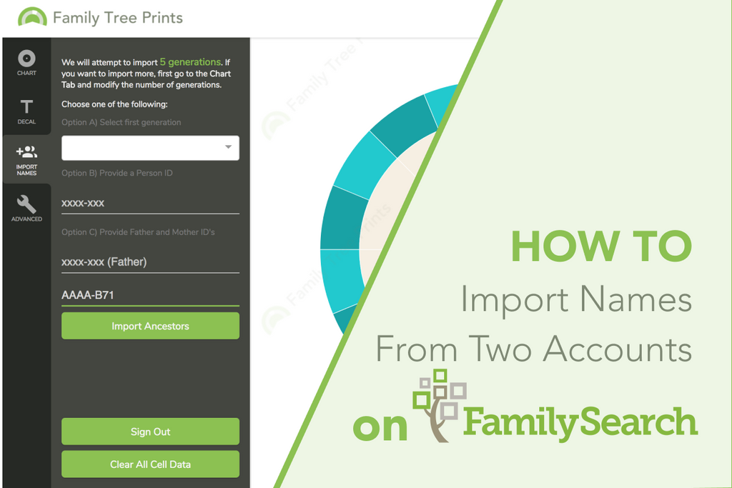 Family Tree Maker: How To Use Two FamilySearch Accounts To Create One Family Tree Chart