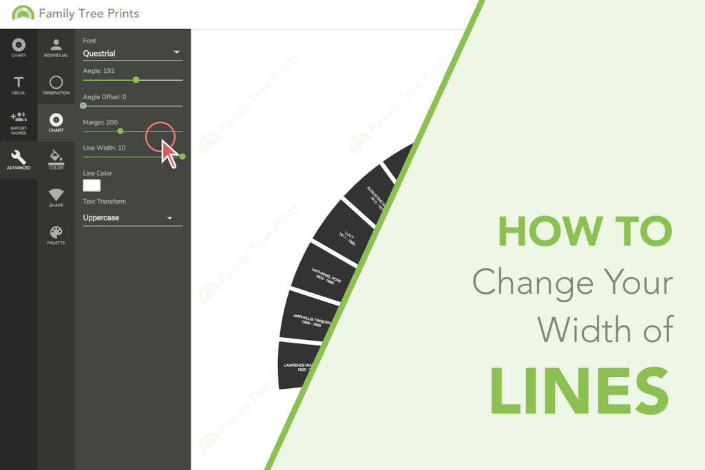 Family Tree Maker: How To Change Line Width