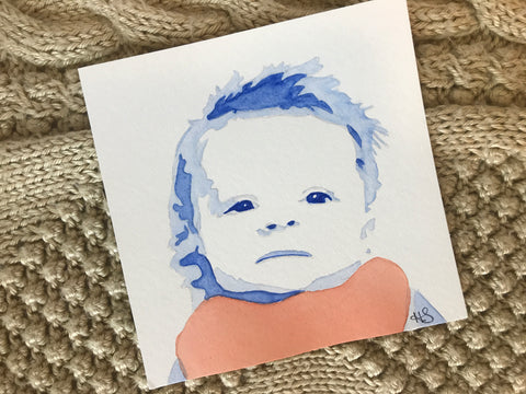 unique gifts for mom watercolor portrait