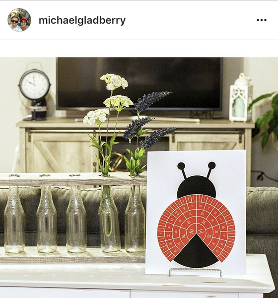 example of lady bug family tree print