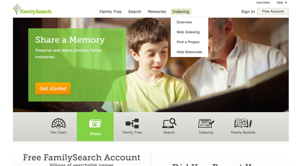 FamilySearch Indexing