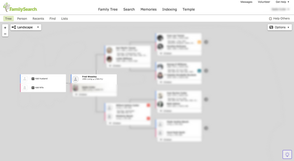 joining husband and wife's genealogy in FamilySearch step 7