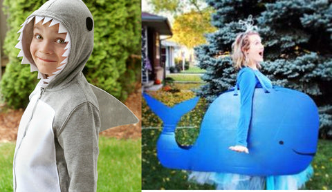 whale and shark kids costumes