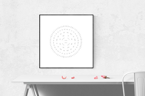 white simplicity circle family tree template