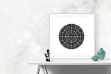 Customizable classic black circle genealogy family tree chart for your home--ready in minutes!