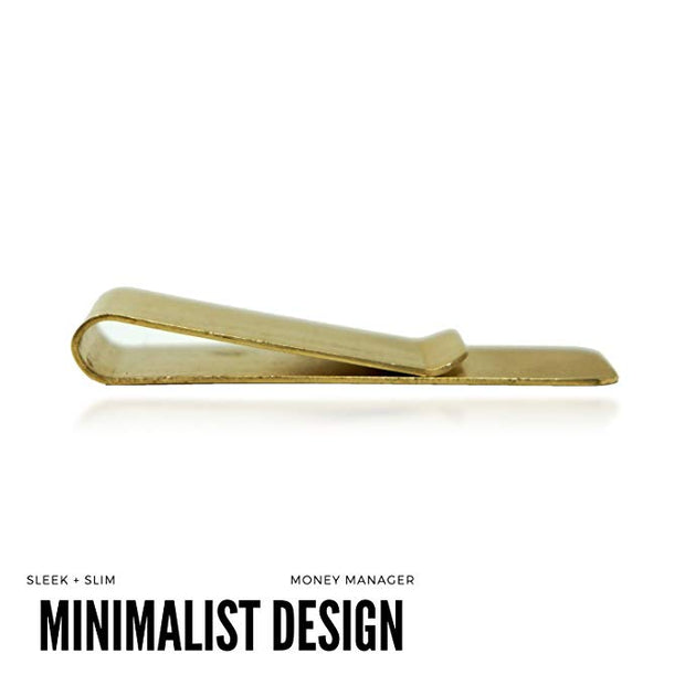 Minimalist Money Clip (Gold) - The Money Manager