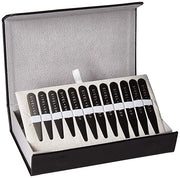 Black Stainless Steel Metal Shirt Collar Stays (12) By SIVEL+SHARP