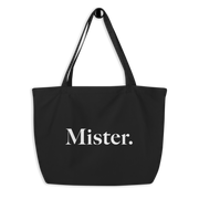 "Men's Organic Tote Bag - ""Mister"""