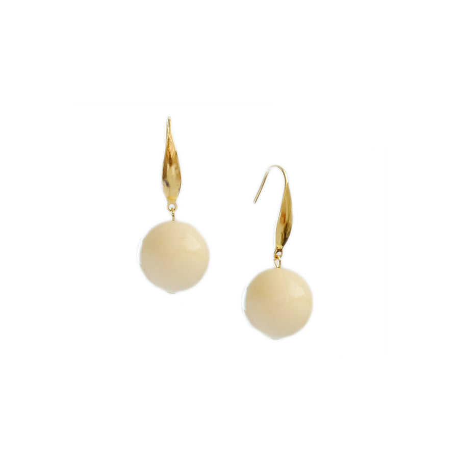 Lampada Earrings in Ivory