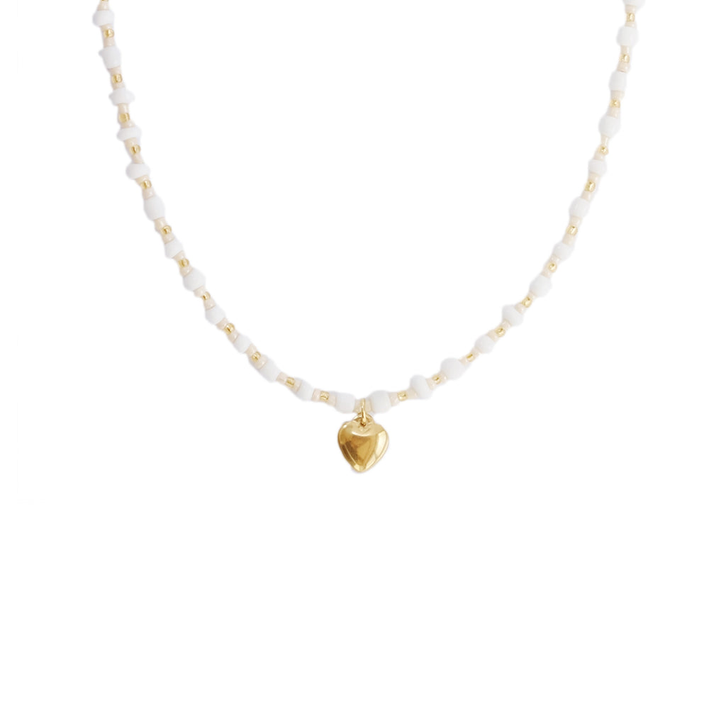 Coeur Necklace in Cream