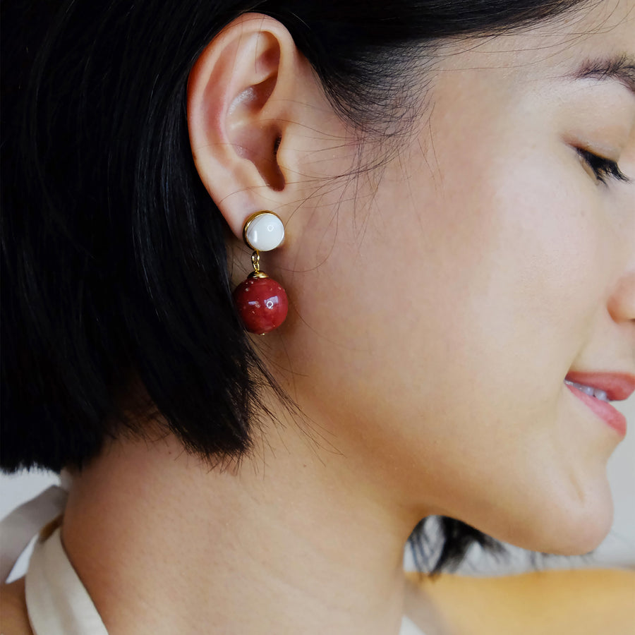 Zel Earrings in Crimson