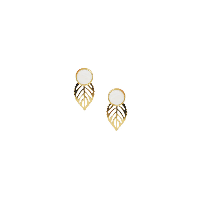 Gina Detachable Earrings in Ivory