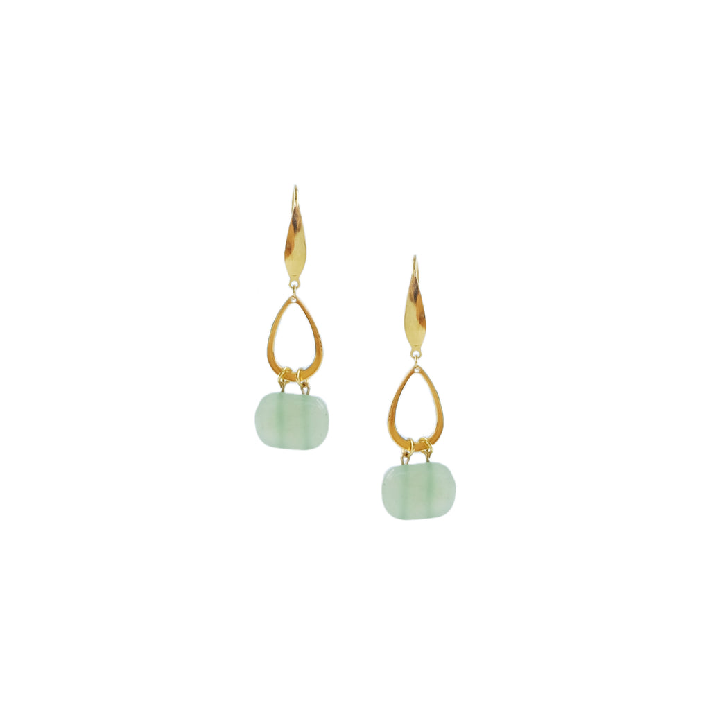 Kia Earrings in Jade