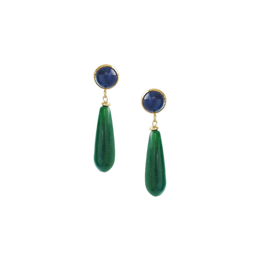 Lina Earrings in Green