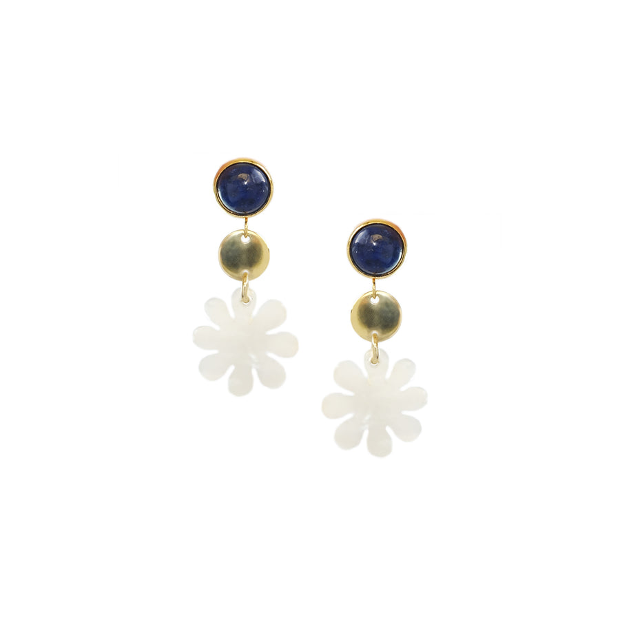 Tina Earrings in Lapis Lazuli