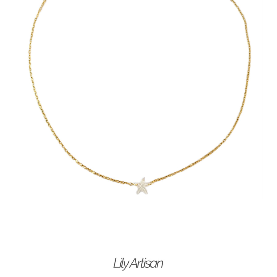 Una Santan Necklace in Ivory