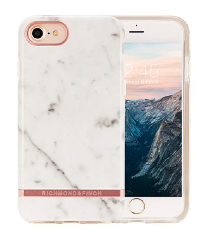 RICHMOND & FINCH Case - White Marble / Rose Gold