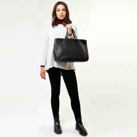 "KNOMO Derby 14"" Leather Tote"